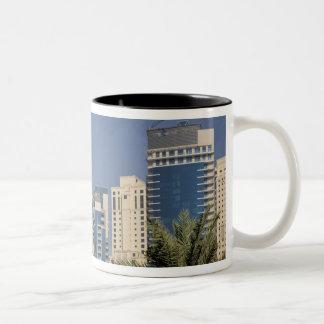 UAE, Dubai. Towers of Jumeirah Beach Residence Two-Tone Coffee Mug