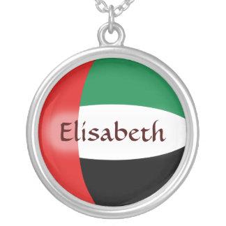 UAE Flag + Name Necklace