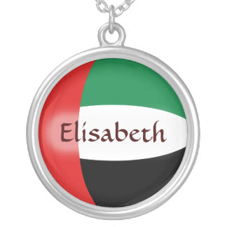 UAE Flag + Name Necklace