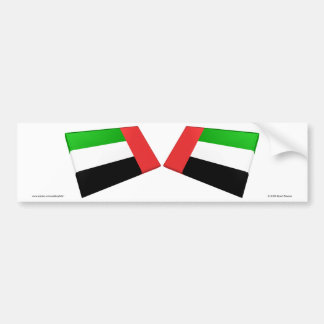 UAE & Fujairah Flag Tiles Car Bumper Sticker