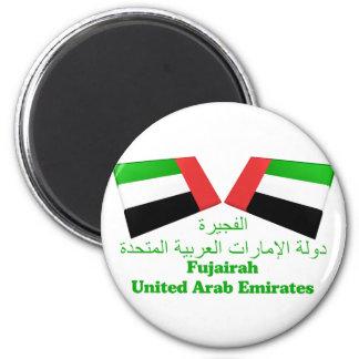 UAE & Fujairah Flag Tiles Magnet