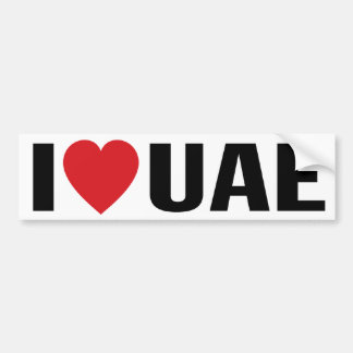 UAE - I Love UAE Bumper Sticker