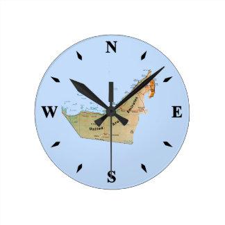 UAE Map Clock