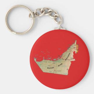 UAE Map Keychain