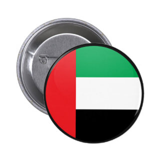 Uae quality Flag Circle Pinback Buttons