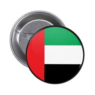 Uae quality Flag Circle Pinback Buttons