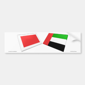 UAE & Ras al-Khaimah Flag Tiles Car Bumper Sticker