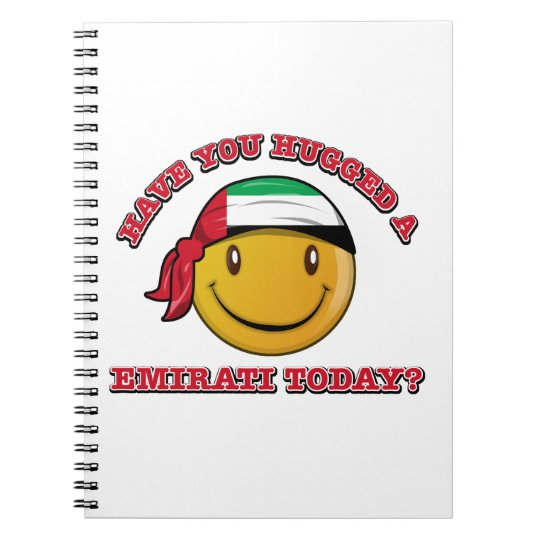 UAE smiley flag designs Notebooks