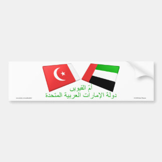 UAE & Umm al-Quwain Flag Tiles Car Bumper Sticker
