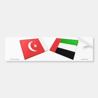 UAE & Umm al-Quwain Flag Tiles Car Bumper Sticker