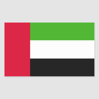 UAE United Arab Emirates Flag Rectangular Sticker