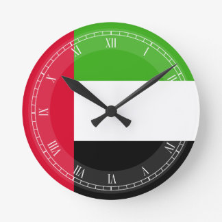 UAE United Arab Emirates Flag Round Clock