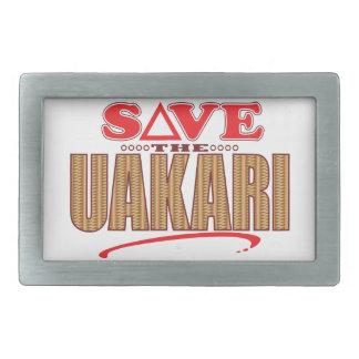 Uakari Save Rectangular Belt Buckle