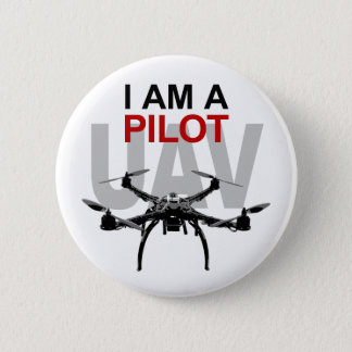 UAV Quadpilot Quadcopter Pilot 6 Cm Round Badge