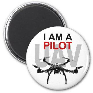 UAV Quadpilot Quadcopter Pilot 6 Cm Round Magnet