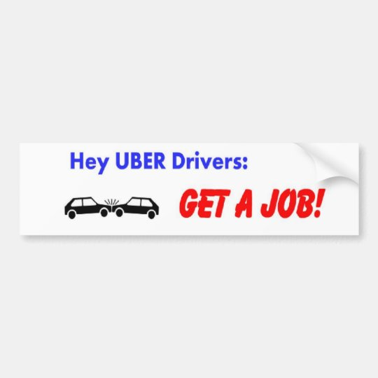 Uber Drivers Bumper Sticker