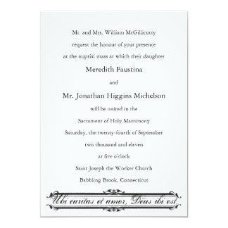 Catholic Wedding Invitations Announcements Zazzle Co Uk