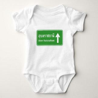 Ubon Ratchathani Ahead ⚠ Thai Traffic Sign ⚠ Baby Bodysuit