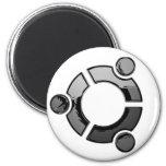 Ubuntu (chrome) 6 cm round magnet