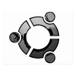 Ubuntu chrome post card