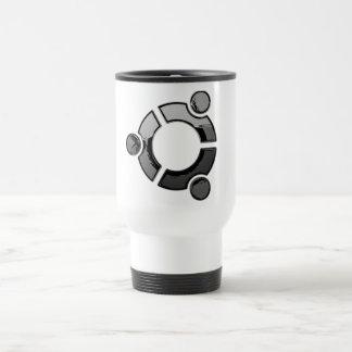 Ubuntu (chrome) travel mug
