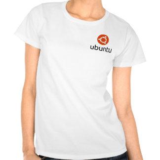 Ubuntu Lady s T-shirts black logo