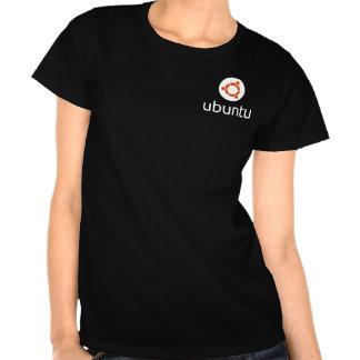 Ubuntu Lady s T-shirts white logo
