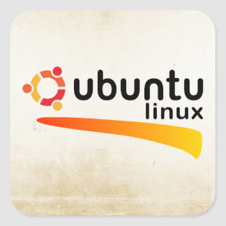 Ubuntu Linux Open Source Square Sticker