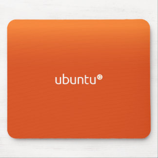 Ubuntu Linux Orange Mouse Pad
