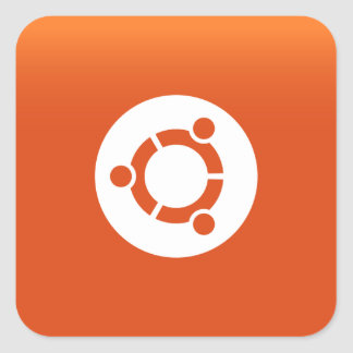 Ubuntu orange grdiant square sticker