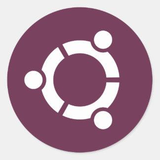 Ubuntu Purple Round Sticker