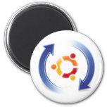 ubuntu-update 6 cm round magnet