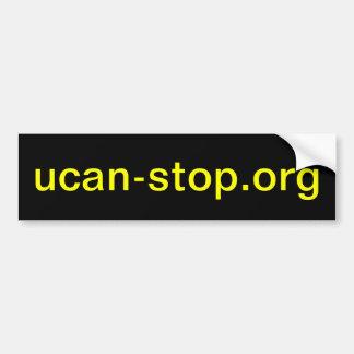 ucan-stop.org bumper sticker
