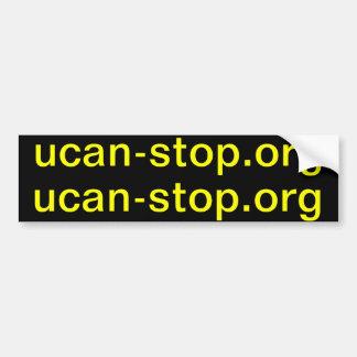 ucan-stop.org x2 bumper sticker