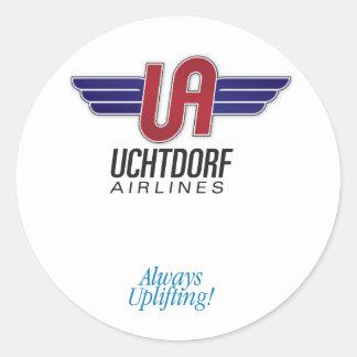Uchtdorf Airlines. Round sticker Sticker