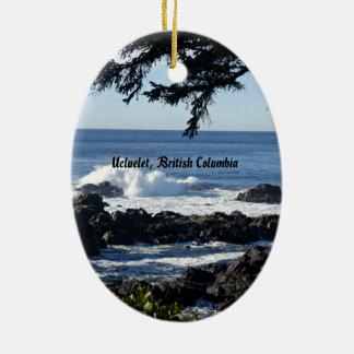 Ucluelet, British Columbia Ceramic Oval Decoration