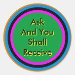 ! UCreate Zazzle - Ask You Receive The MUSEUM Sticker