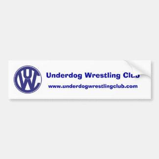 udc logo copy dk bl, Underdog Wrestling Club, w... Bumper Sticker