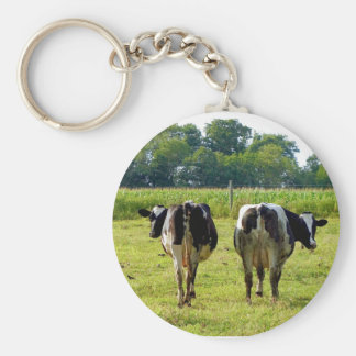Udder Viewpoints Basic Round Button Key Ring