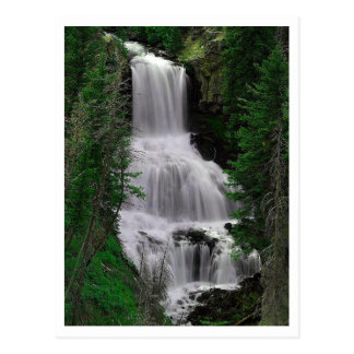 Udine Falls, Yellowstone Park, Wyoming Postcard