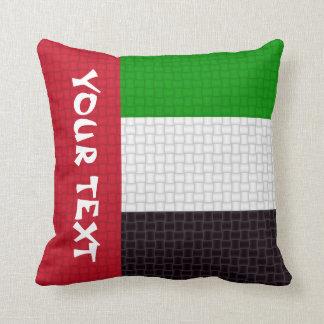 UEA United Arab Emirates flag: ADD TEXT Cushion