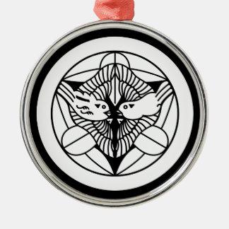 Uesugi Kenshin (H) Silver-Colored Round Decoration