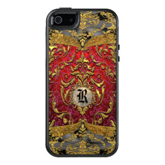 Ufaycicle Baroque  Girly Personalized Monogram OtterBox iPhone 5/5s/SE Case