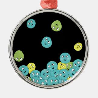 Uff che palline Silver-Colored round decoration