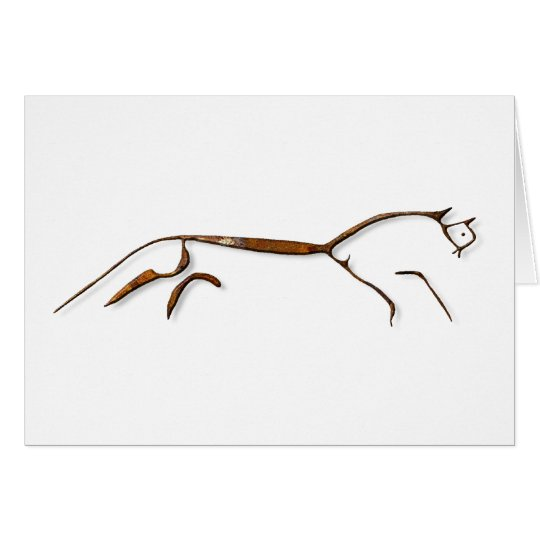 Uffington Horse Rust Card