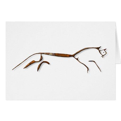 Uffington Horse Rust Card Greeting Card