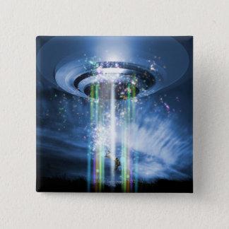 UFO 15 CM SQUARE BADGE