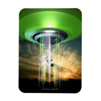 UFO 2 RECTANGULAR PHOTO MAGNET