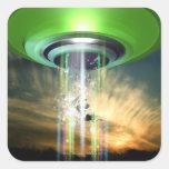 UFO 2 SQUARE STICKER