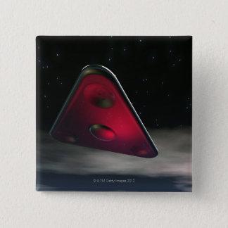 UFO 3 15 CM SQUARE BADGE